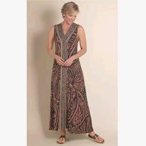 Soft Surroundings | Tribal Serengeti Maxi Dress